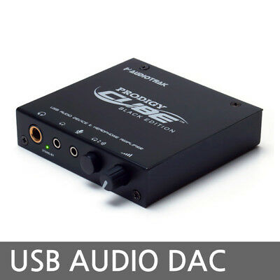 AUDIOTRAK PRODIGY CUBE BLACK EDITION USB DAC External Sound Card Microphone