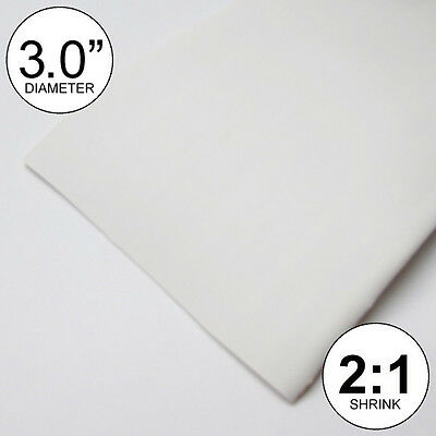 3 Id White Heat Shrink Tube 21 Ratio 3.0 Wrap 4 Feet Inchftfeetto 80mm