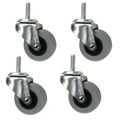 2 Caster - 516 Threaded Stem - Non Marking Polyurethane Wheel - Set Of 4