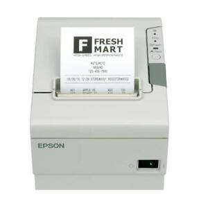 Epson TM-T88V Thermal Receipt Printer - Parallel & USB Connections - White/Beige - No Power Adapter - M244A