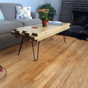 New- Modern but rustic look coffee table