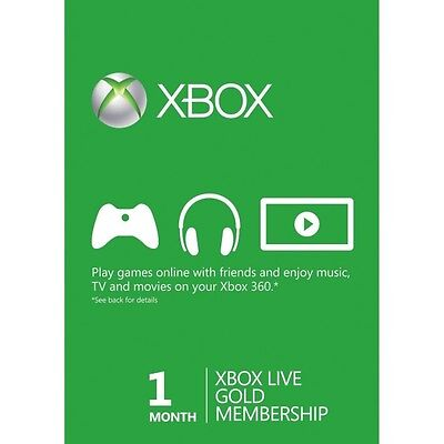 Xbox Live 1 Month Gold Membership Instant Dispatch  15 Min