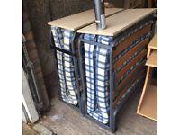 2 X fold away camp beds