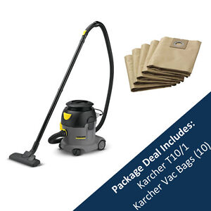 karcher aspirateur t10 1 professionnel et pack de 10 sacs 15274110 ebay. Black Bedroom Furniture Sets. Home Design Ideas