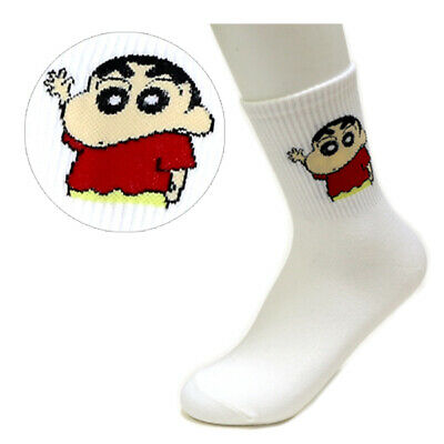 Women Girls Socks Crayon Shin Chan Friends Cartoon Socks Funny Character Socks