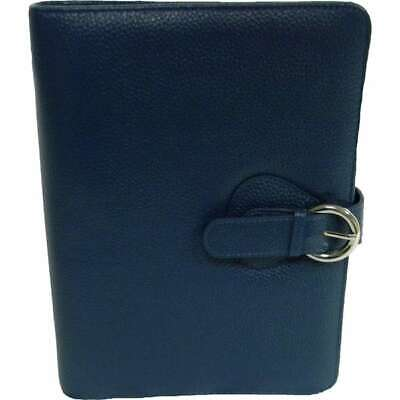 Franklin Covey Leather Ava Binder Classic 7.5x9.5x1.2-inches Teal
