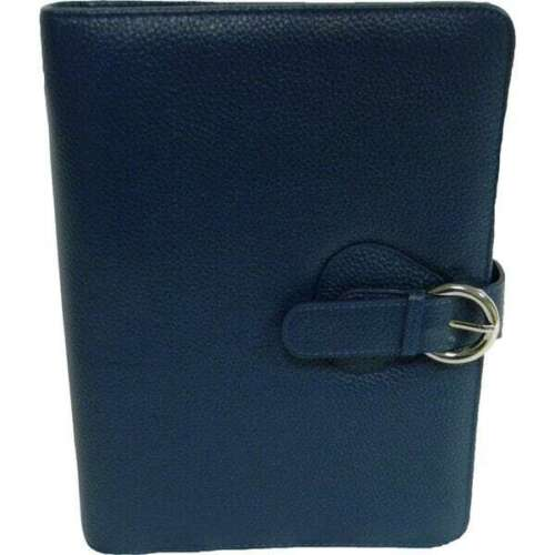 Franklin Covey Leather Ava Binder, Classic 7.5x9.5x1.2-Inches, Teal