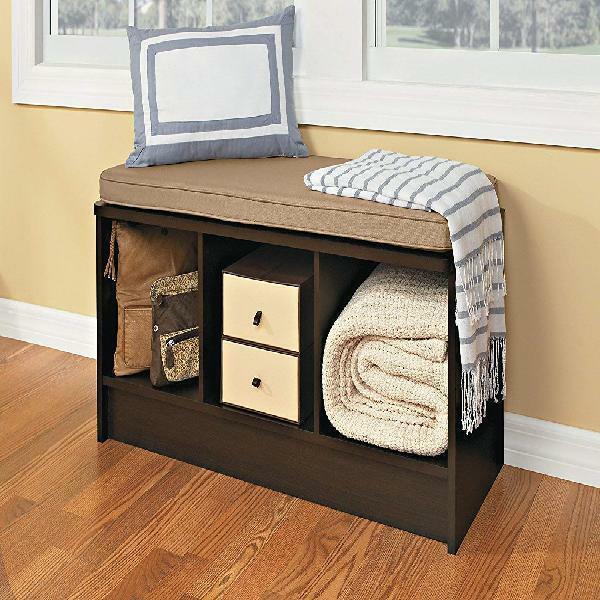 ClosetMaid 3-Cube Entryway Storage Bench, Espresso
