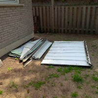 Disassembled shed for scrap metal (FREE for pick up)