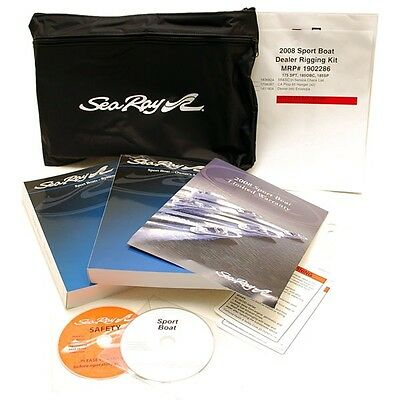 Sea Ray 2008 Sport Boats OEM Boat  Black Tote Bag Manual Kit 1902286