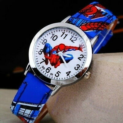 Spiderman Watch Children's Kids Cartoon Wrist Watch Blue Band FREE SHIPPING ! !