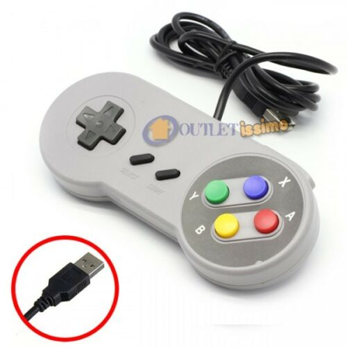 SNES JOYPAD USB CLASSICO GAMEPAD SNES MAME PER RASPBERRY MAME NINTENDO PC MAC AN
