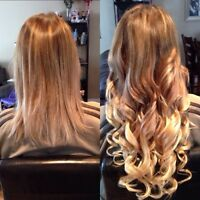 Professional and Affordable Hot Fusion & Tape In Extensions $250