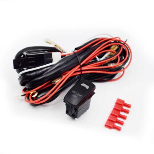 12v wiring harness rocker switch roof led light bar utv ... led light bar wiring harness install utv led light bar wiring harness #1