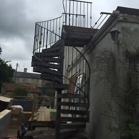 Galvanised Steel Spiral Staircase