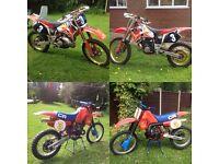 2x Honda cr 250 1983 - 1993