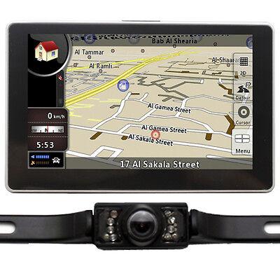 "5"" Car GPS Navigation+Reverse Camera 8GB CA US EU AU Global Map Bluetooth AV-IN"