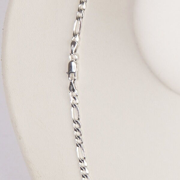 """10 pieces 20"""" 50cm Italian 925 Sterling Silver 3mm FIGARO CHAIN NECKLACES Lot"""