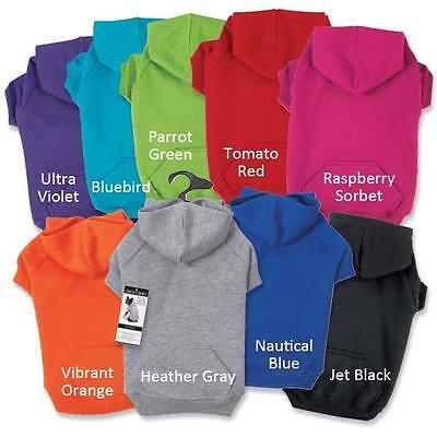 BASIC DOG HOODIE Zack & Zoey Puppy Coat Sweater Pet Sweatshirt 9 Colors  6 Sizes