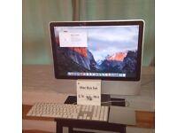 "20"" iMac , 2GHz, 250GB, 6MB Ram + software"