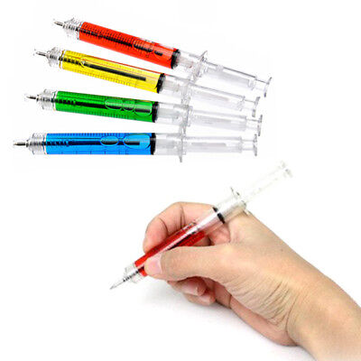 Syringe Needle Tube Writing Ball Point Pen Black Ink Ballpoint Wholesale New - Syringe Pen