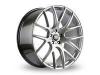 """18"""" Silver AVA Phoenix alloy wheels 5x112 will fit Golf MK5, MK6, MK7, Jetta, Passat, Caddy Etc"""