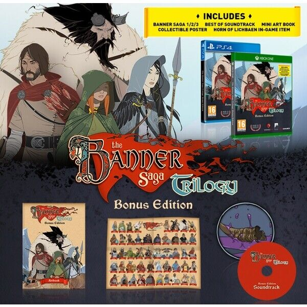 The Banner Saga Trilogy BONUS EDITION XBOX One New LAUNCH PRE-ORDER  - $18.88