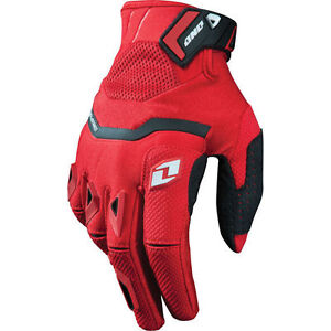 New One Industries Armada gloves 9 Medium  MX ATV Dual Sport red/black glove