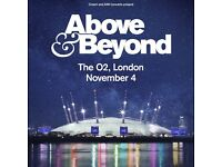 4 x Above & Beyond Tickets - London O2 - 04/11/17 - Floor Standing