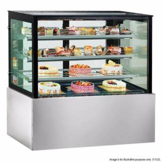 Bonvue Chilled Food Display Square Stainless Steel SL840V