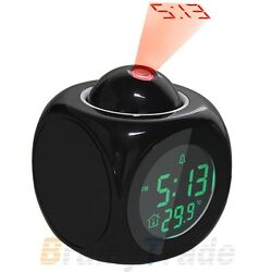 Multifunction Alarm Clock Digital LCD Display Voice Talking LED Projection clock
