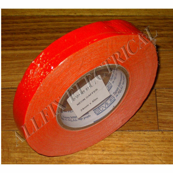 Stylus 511 Neon Flouro Orange Gaffer Tape 45m X 24mm - Part # NCT24O