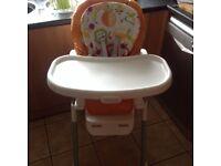 Graco multi position highchair