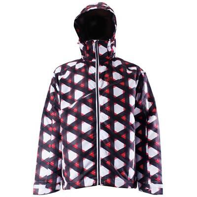 2117 OF SWEDEN TALLMOSSEN MEN'S SKI SNOWBOARD SNOW JACKET WHITE BLACK PRINT