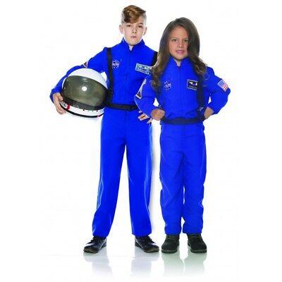 CHILD ASTRONAUT JUMPSUIT COSTUME NASA BLUE SHUTTLE SHIP SPACE PILOT FLIGHT SUIT