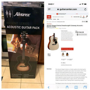 ☆ALVAREZ ACOUSTIC GUITAR PACK☆ Brand New