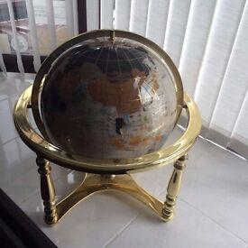 Large gemstone globe