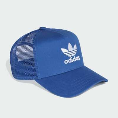 Adidas Originals Mens Baseball Cap Trucker Hat BNWT OSFM Blue Sun Trefoil