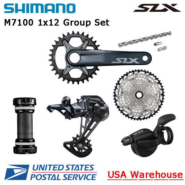 Shimano SLX M7100 1x12 Speed Group Set Cassette Rear Derailleur Right Shifter BB
