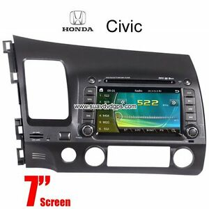 Honda Civic Car DVD GPS Radio camera navigation