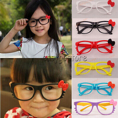 NEW Kids Boys Girls Kawaii Hello Kitty Bow Bowtie Glasses Frame Costume NO LENS](Hello Kitty Girl Costume)