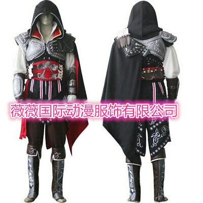 Assassin Creed Suit (Assassin's Creed 2 Ezio Auditore Black Outfit Cosplay Costume Halloween Suit)