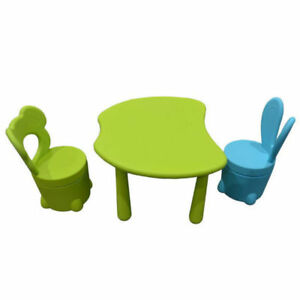 Toytexx Children's Solid Table and 2 Chairs Set