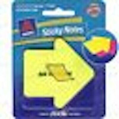 Free Ship 60-pk. Avery Sticky Notes See-through Arrow Yellow Pink Pads Bookmark