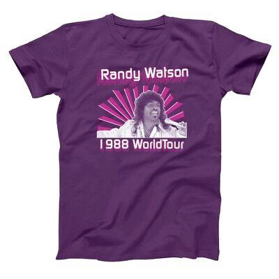 Randy Watson  Sexual Chocolate Soul Glo Purple Basic Men's T-Shirt](Purple Chocolates)