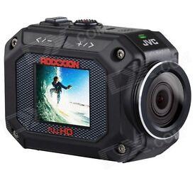 JVC Adixxion GC-XA2 Action Waterproof Camera (16MP, 5x Zoom, Full HD) 1.5 inch LCD Screen