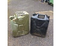 Fuel and water cans 5 gallons