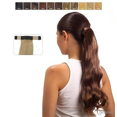 EXTENSION Coda Mossa Allaccio INVISIBILE ALLUNGAMENTO capelli sintetici 50 CM