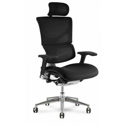 X3 Atr Mgmt Chair With Headrest And X-wheel - Black A.t.r