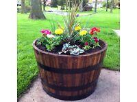 🥃🌸 Half whiskey barrels / planters - £29.50